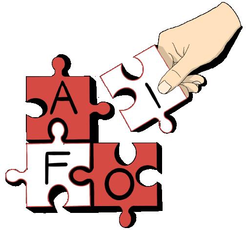 """icona disegnata di un puzzle per sezione """"candidature"""""""