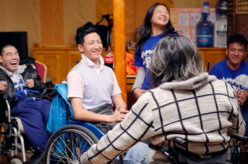 Ragazzi disabili in mongolia