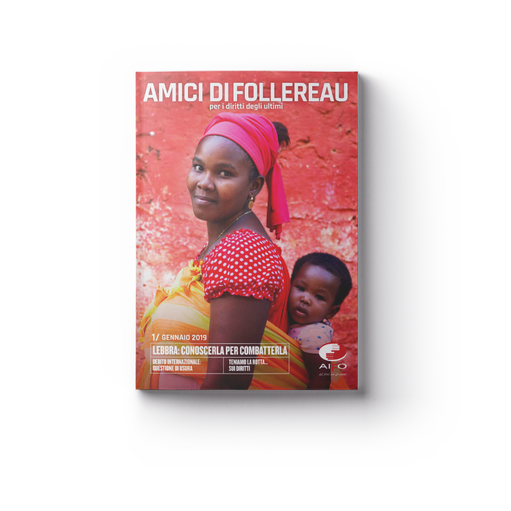 Copertina magazine Amici di follereau - gennaio 2019