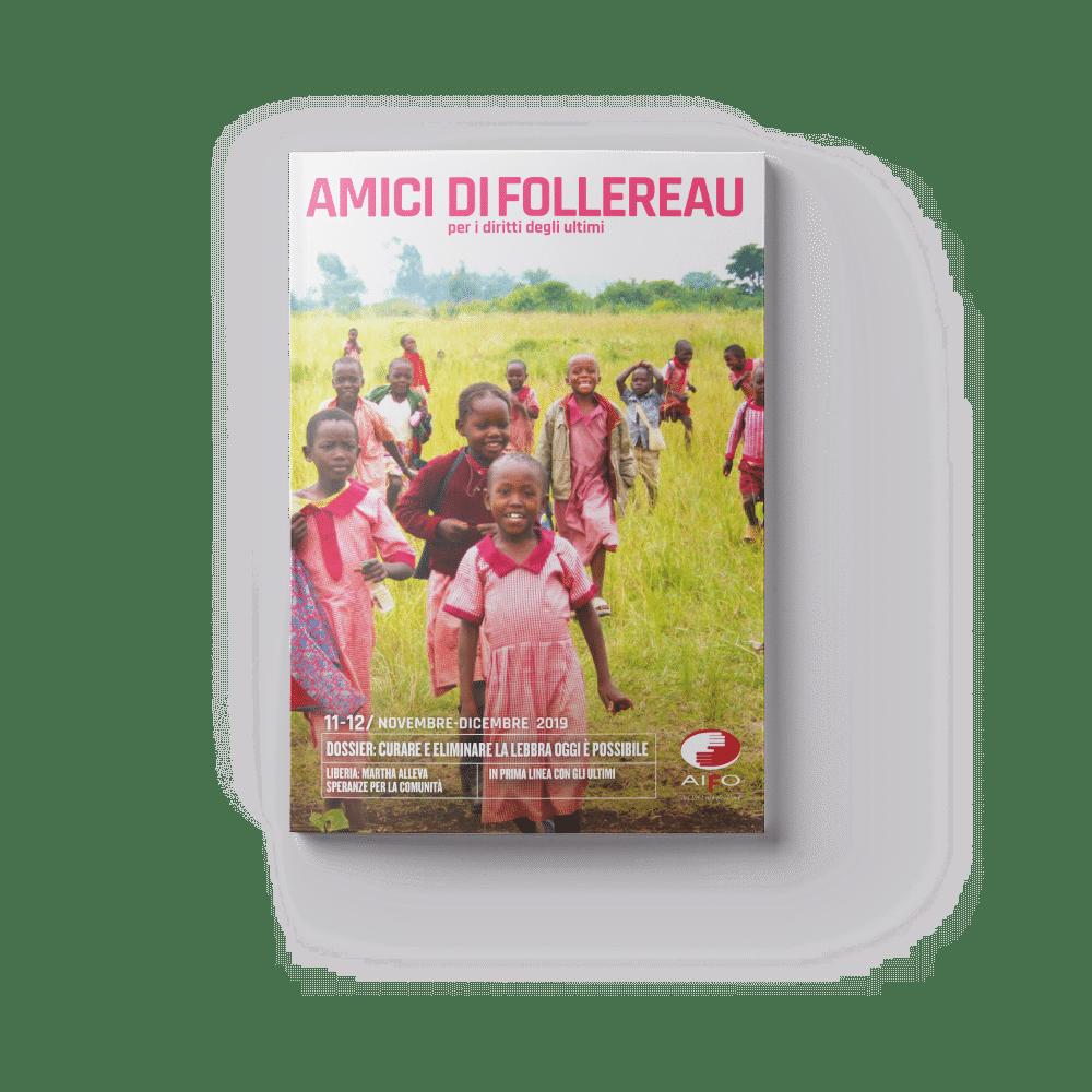 Copertina magazine Amici di follereau - novembre e dicembre 2019