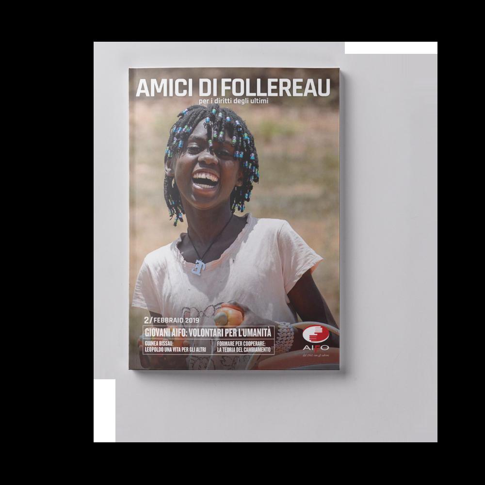 Copertina magazine Amici di follereau - febbraio 2019