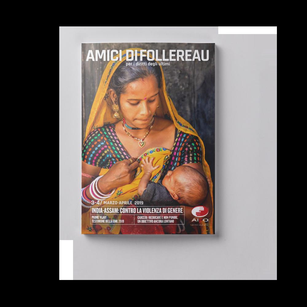 Copertina magazine Amici di follereau - marzo e aprile 2019