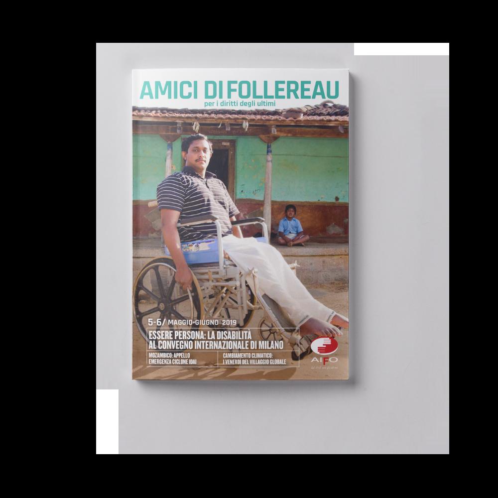 Copertina magazine Amici di follereau - maggio e giugno 2019