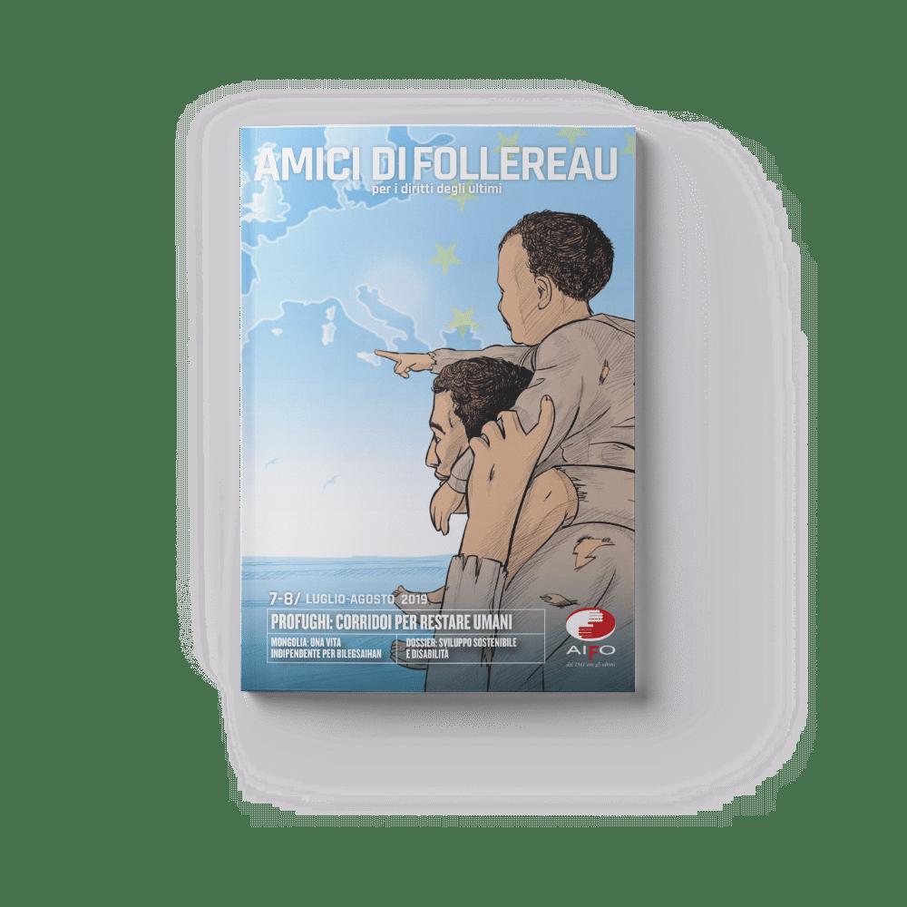 Copertina magazine Amici di follereau - luglio e agosto 2019