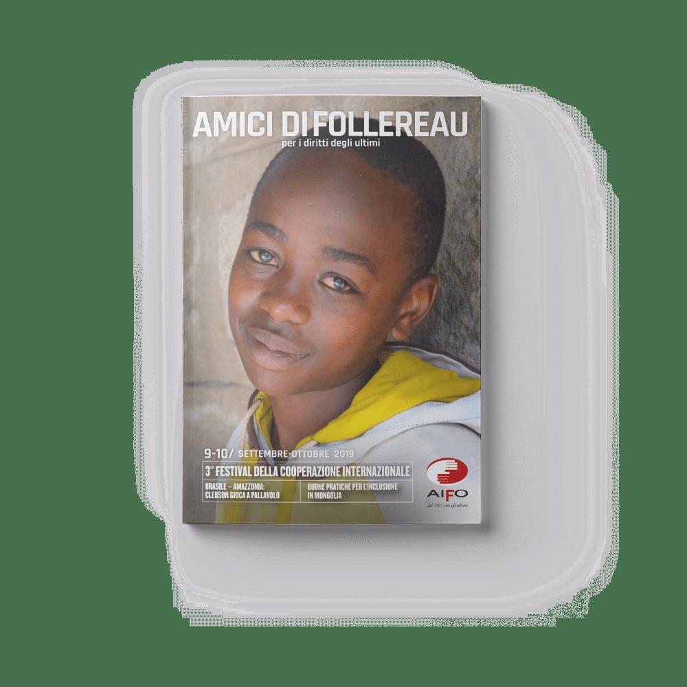 Copertina magazine Amici di follereau - settembre e ottobre 2019
