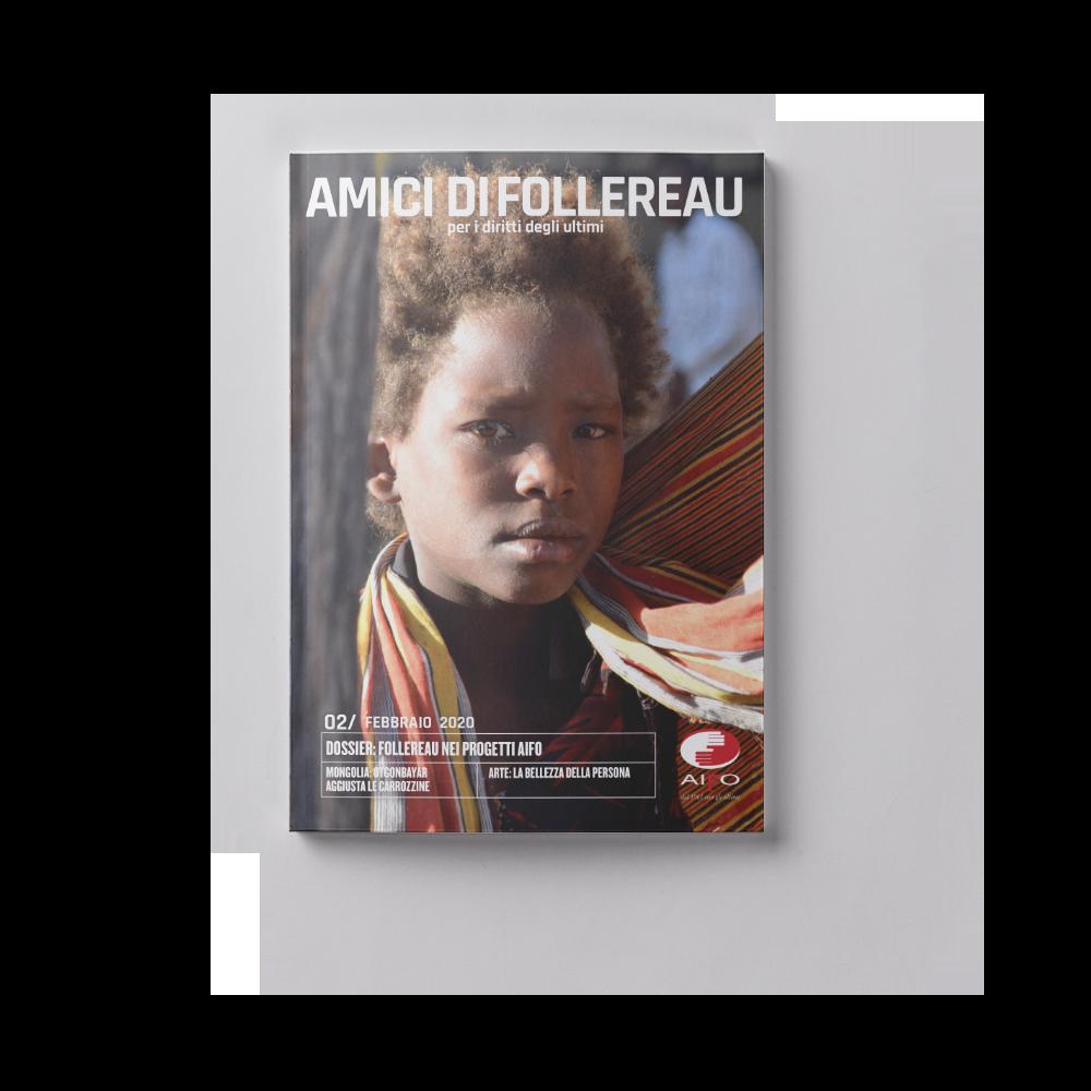 Copertina magazine Amici di follereau - febbraio 2020