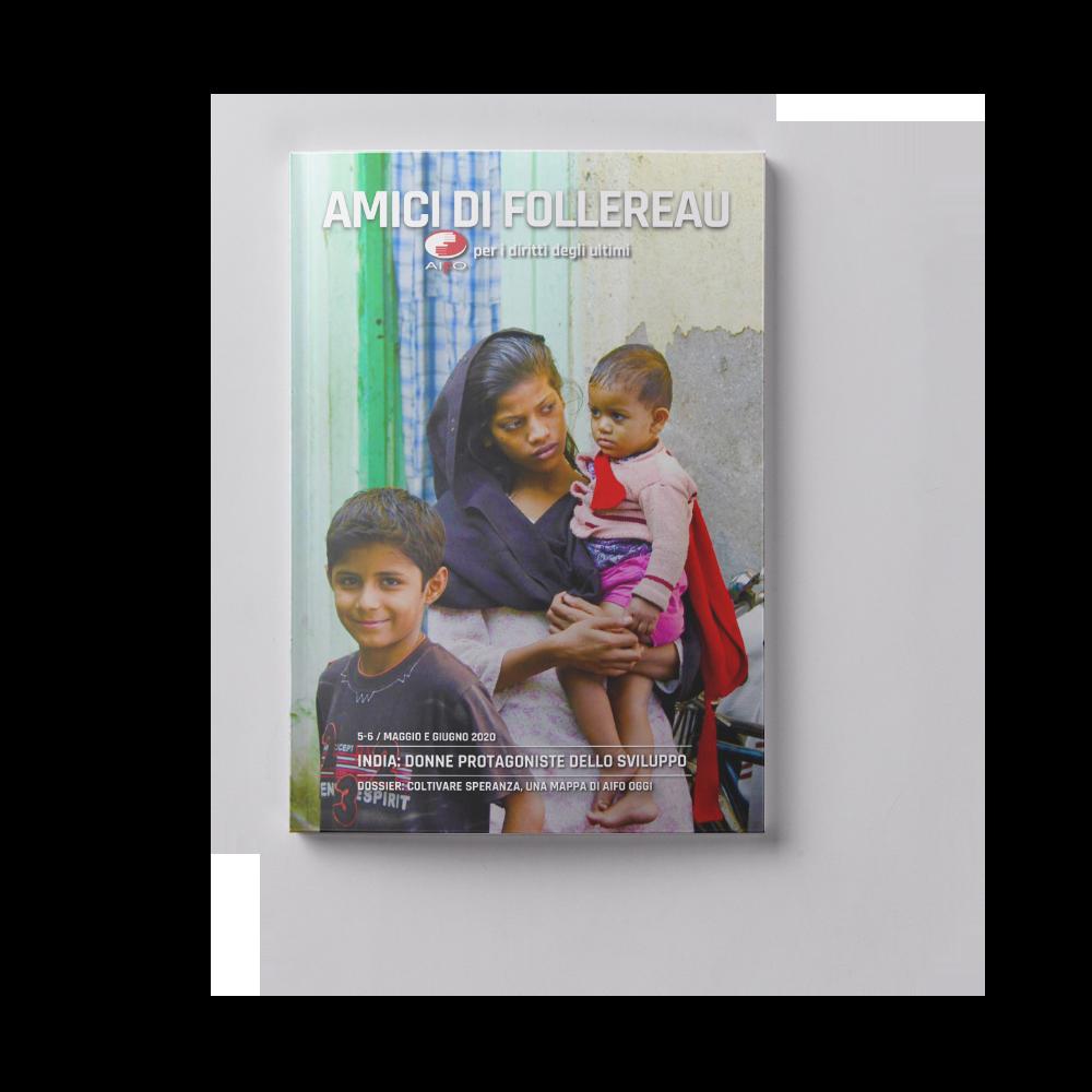 Copertina magazine Amici di follereau - maggio e giugno 2020