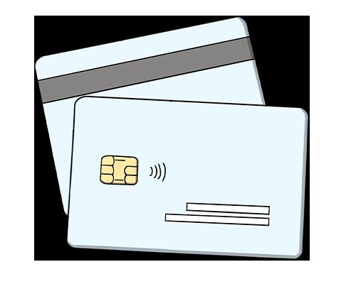 icona disegnata delle carte di credito per le donazioni