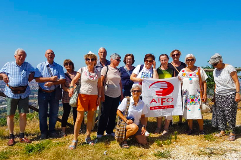 Volontari AIFO riuniti in montagna