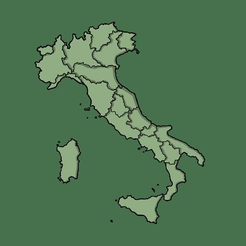 Icona disegnata dell'Italia