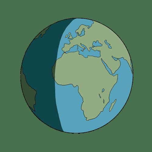 Icona disegnata del mondo