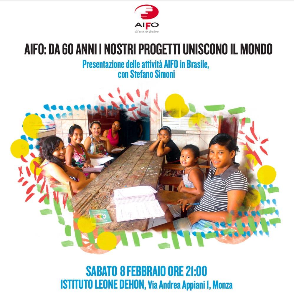 Presentazione delle attività di AIFO in Brasile. Sabato 8 febbraio a Monza