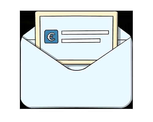 icona disegnata del modulo sepa per le donazioni