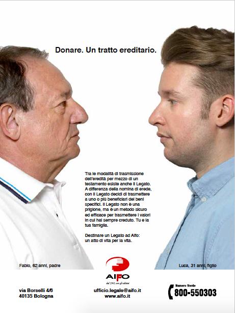 """Campagna stampa """"Legati"""" per i lasciti e testamenti"""