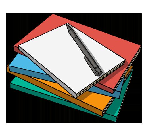 """icona disegnata """"materiale scolastico"""""""