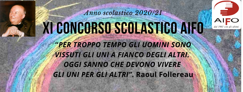 Copertina concorso scolastico AIFO anno 2020/2021