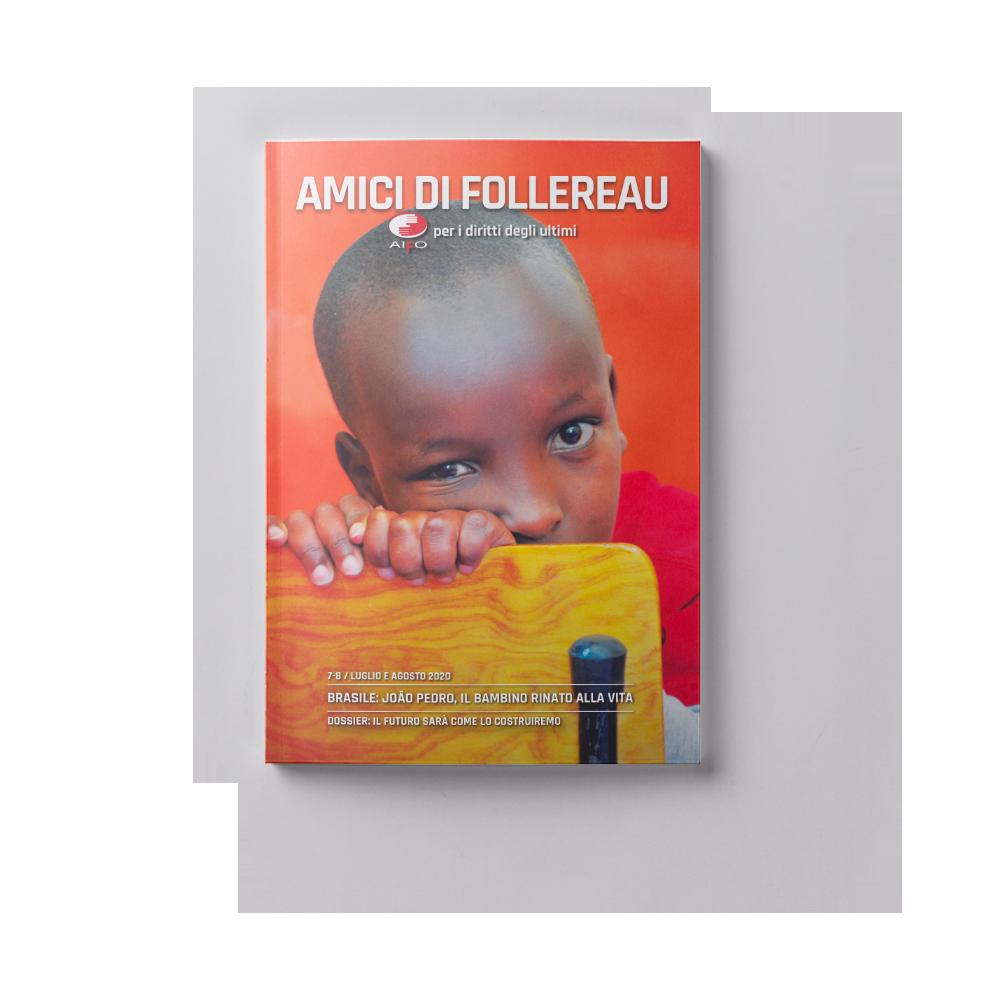 Copertina magazine Amici di follereau - luglio e agosto 2020