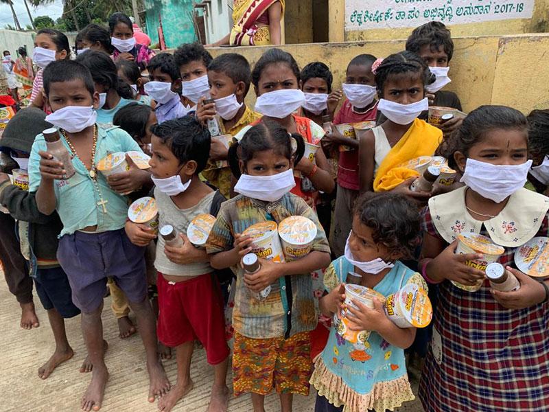 Bambini in India durante l'emergenza da Covid